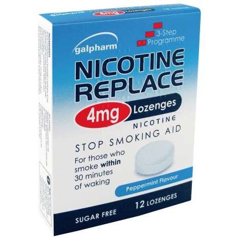 Galpharm Nicotine Replace 4mg Lozenges 12 Pack - Peppermint
