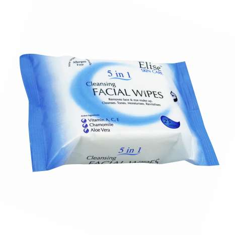 Elise Skin Care Facial Wipes 25 Pack