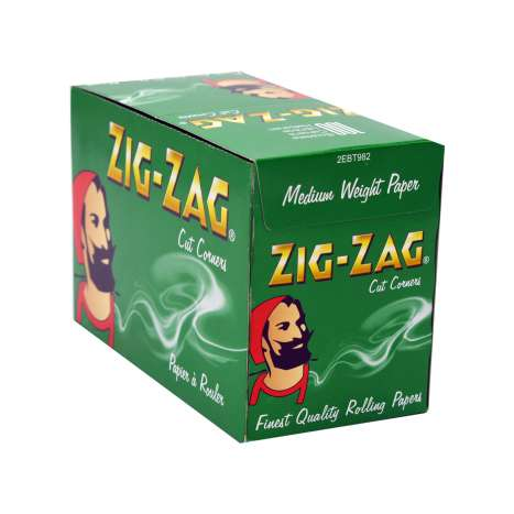 Zig-Zag Green Rolling Papers 50 Pack