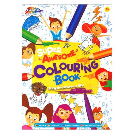 Super Awesome Colouring Book 72 Sheet