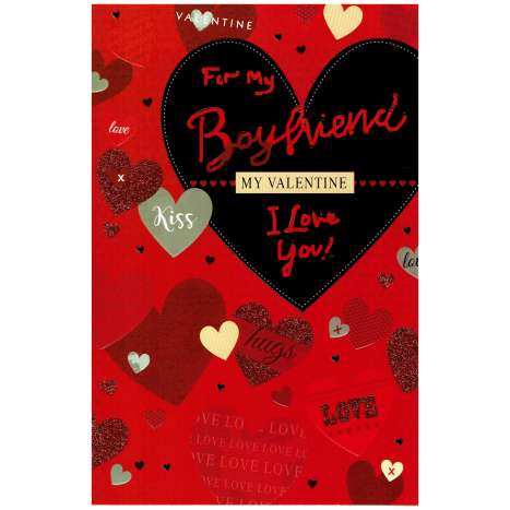 Valentines Day Cards - Boyfriend (Code 75 - cellophane wrapped)