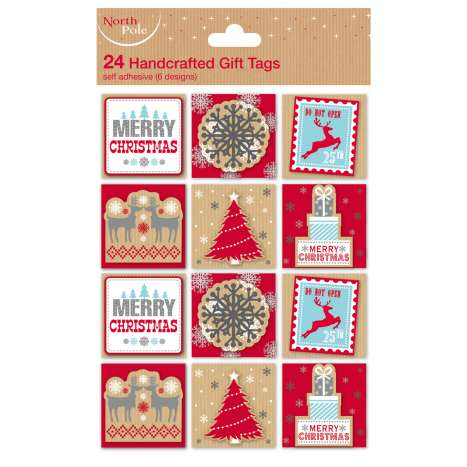 Contemporary Christmas tags 24PK