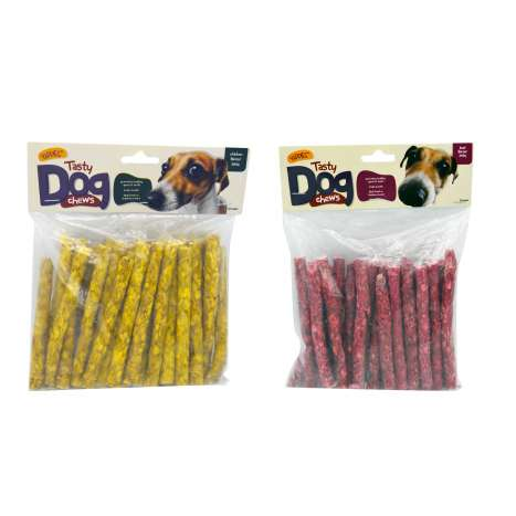 Yappies tasty beef/chicken dog chews 350g asstd