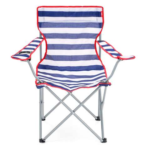 Folding Camping Chair - Nautical Striped