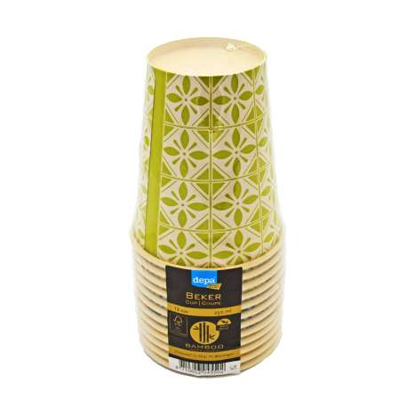 Depa Bamboo Paper Cups 12 Pack - 25oml