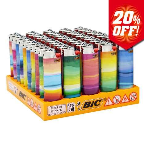 BIC Maxi Flint Lighters J26 Decor - Strata