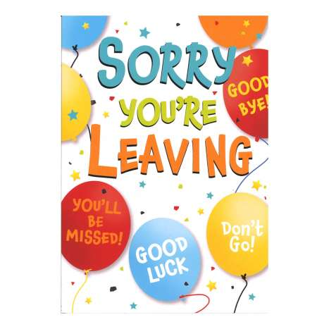 Everyday Greeting Cards Code 50 - You're Leaving