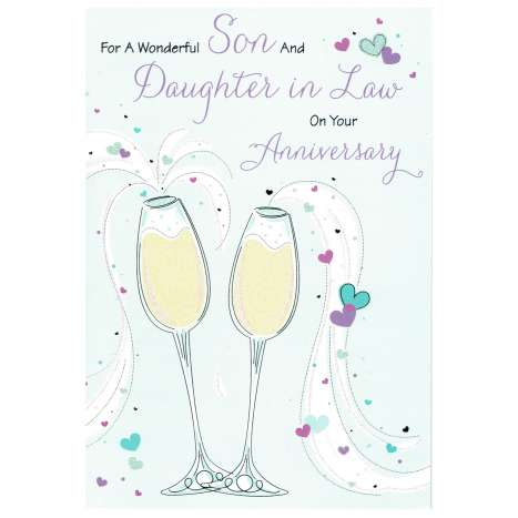Everyday cards code 75 - Son & Daughter in Law Anniversary