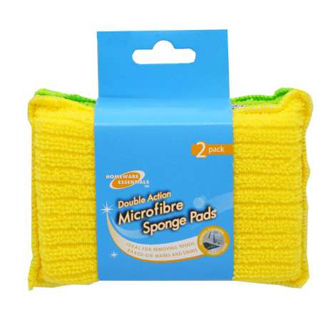 Homeware Essentials Microfibre Sponge Pads 2 Pack