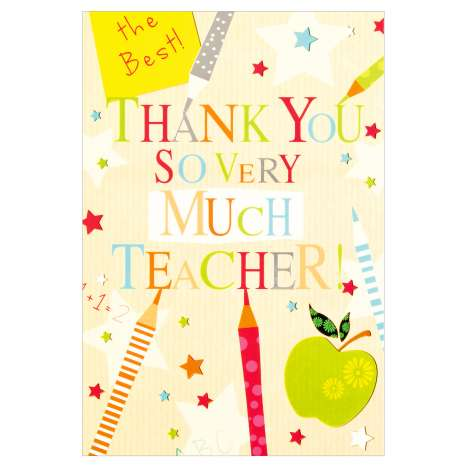 Everyday Greeting Cards Code 50 - Thank You Teacher