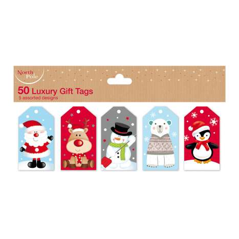 Die cut tags cute 50PK