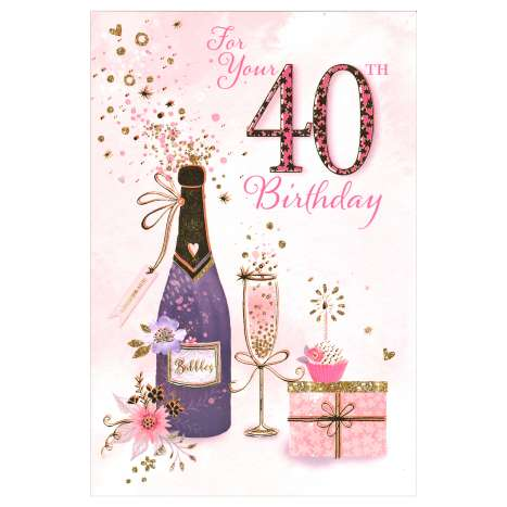 Everyday Greeting Cards Code 50 - 40th (F)