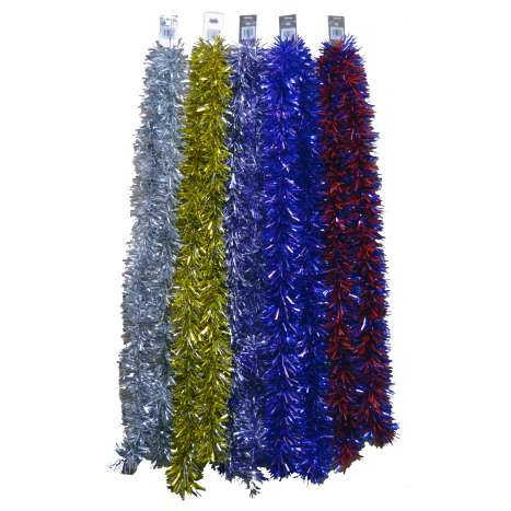 Luxury tinsel - Asstd cols - 2.7M 6ply