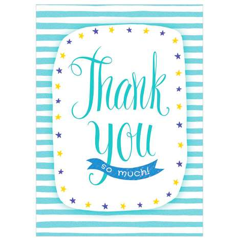 Garlanna Greeting Cards Code 50 - Thank You (Stripes)