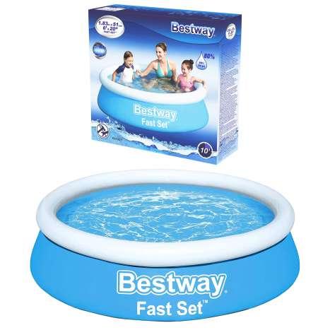 """Bestway Fast Set Paddling Pool 72"""" (6ft)"""