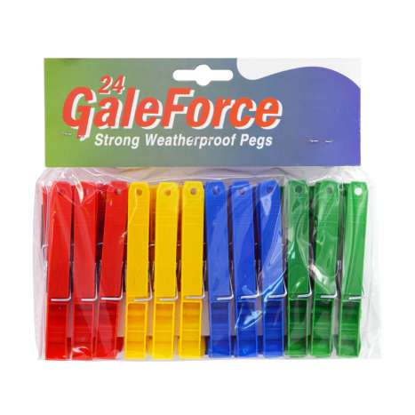 Galeforce Clothes Pegs 24 Pack