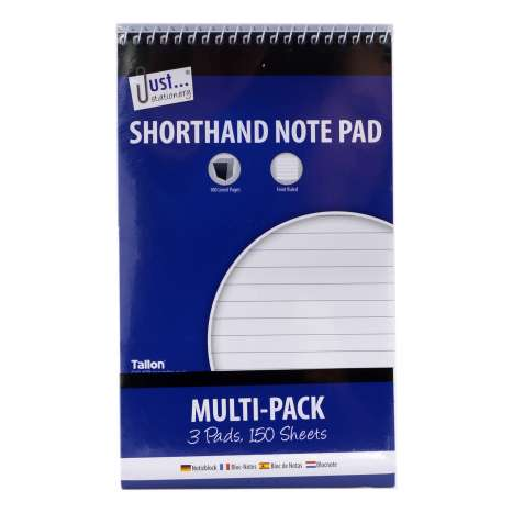 Shorthand Note Pad Multi-pack (50 Sheets x 3 Pads)