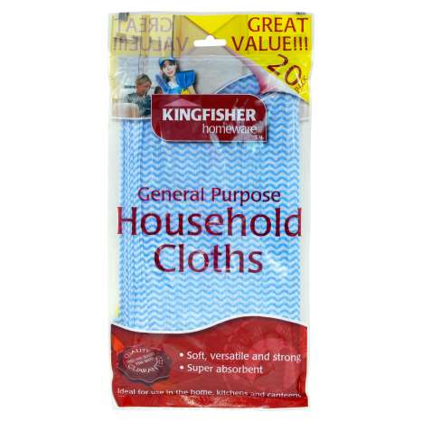 General Purpose Household Cloths 20 Pack