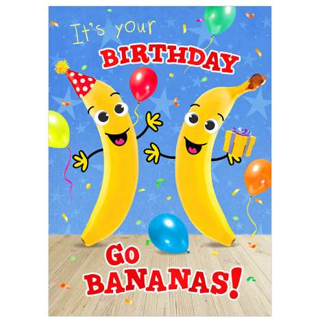 Garlanna Greeting Cards Code 50 - Bananas