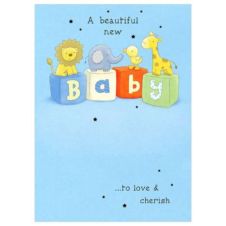 Garlanna Greeting Cards Code 50 - Baby Boy