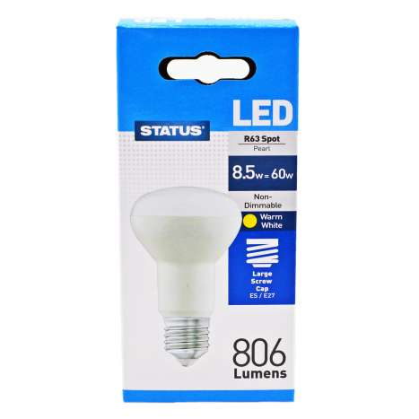 Status LED 8.5w=60w R63 Spot Light Large Screw Cap Bulb
