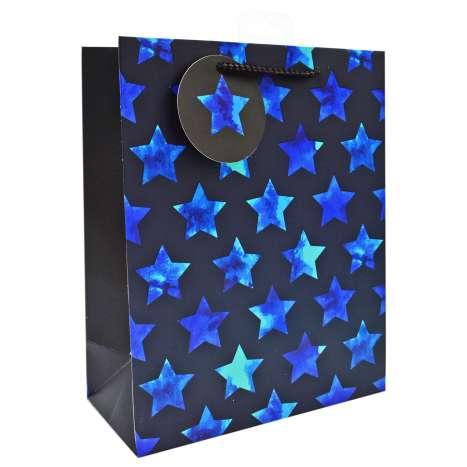 Large Gift Bags - Blue Stars (26cm x 32cm)