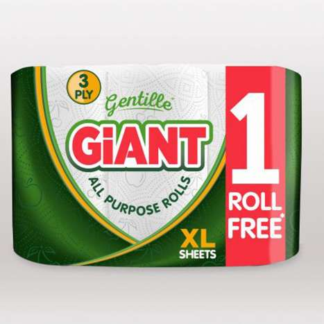 Gentille Giant Kitchen Roll 3ply (3 Pack)