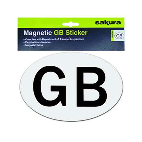 Magnetic GB car sticker - Oval (180 x 120mm)